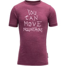 Devold Moving Mountain T-shirt Enfant, violet